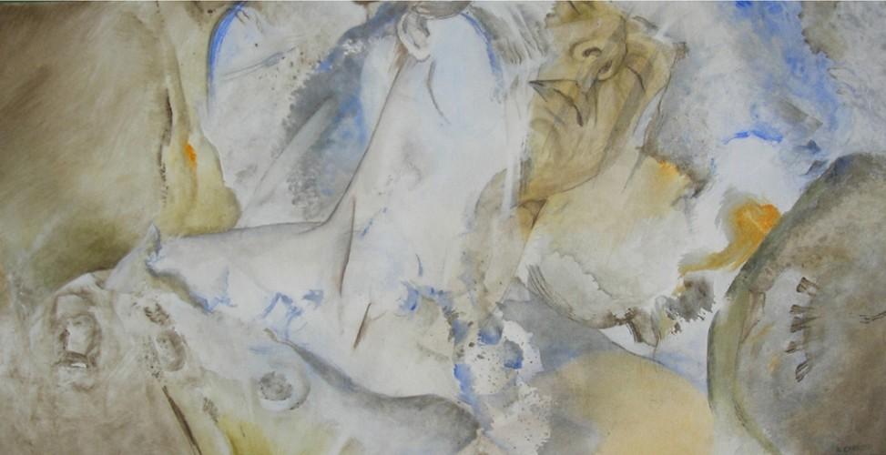 Etreinte II – Acrylique sur toile – 40 cm x 80 cm