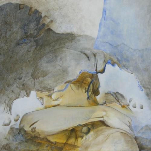 Etreinte III – Acrylique sur toile – 80 cm x 80 cm