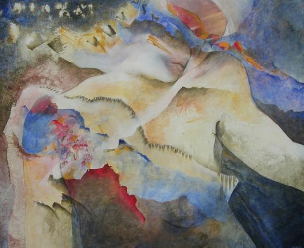 Matière de rêve – Acrylique sur toile – 80 cm x 100 cm