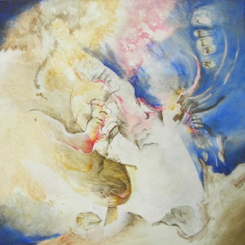Visite de l'ange – Acrylique sur toile – 60 cm x 60 cm
